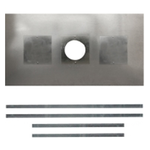 """Chimney Register Plate With Inspection Holes 5"""" & 6"""" flue pipe - size 900mm x 495mm"""