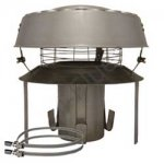 """Flue Terminal - Stainless Steel Pot Hanger with anti down draught cowl 5"""" (125mm)"""